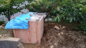 堆肥枠設置後